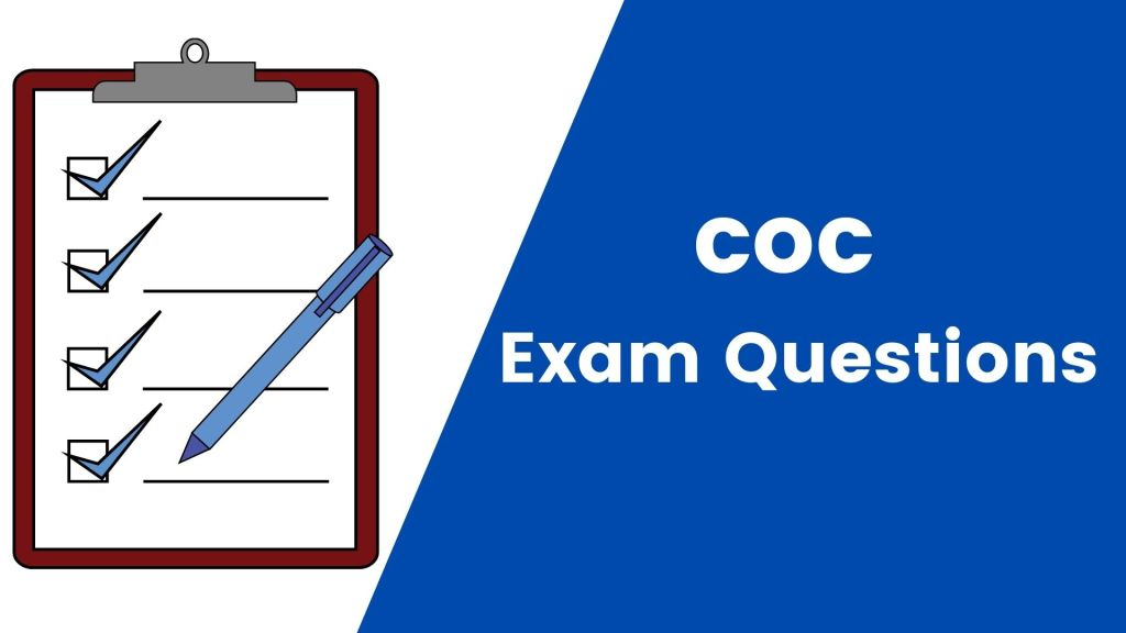 COC exam questions of past papers