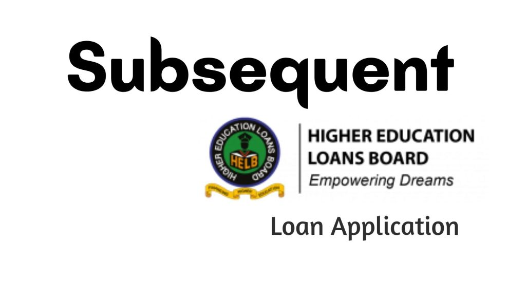 How to apply for Subsequent HELB Loan via app or 642