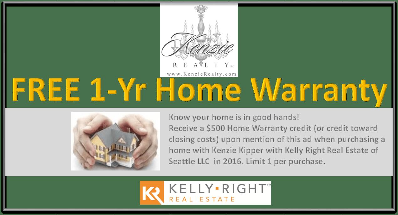 free one year home warranty