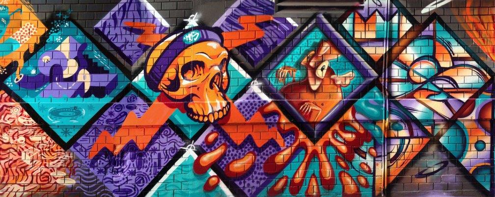 Meeting of Styles 2016 - WEWF crew wall(2) - Street Art, Melbourne