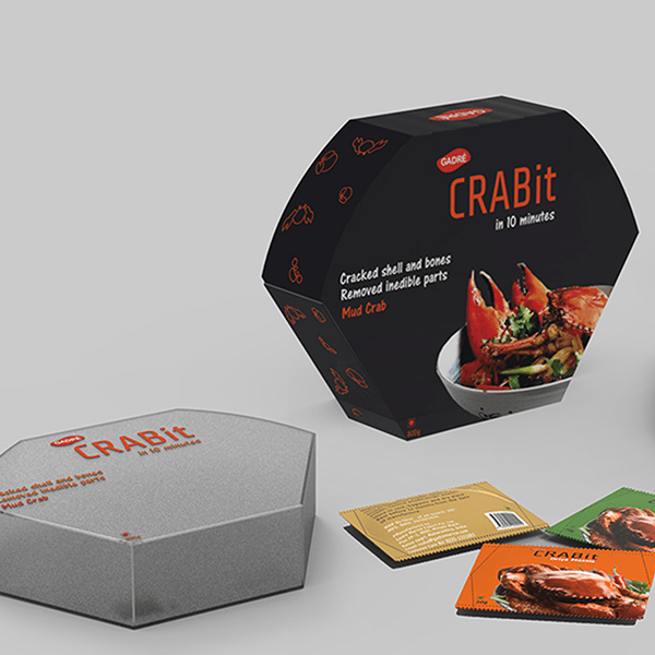 Crab Meat Packaging Design 3 suggested by Keon Designs