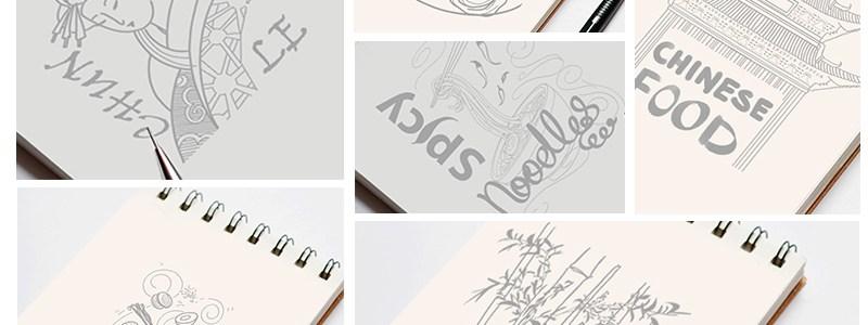 Food Outlet Design Hand Sketches