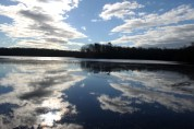 Clouds reflected in Blydenburg Lake