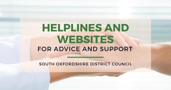 HELPINES AND WEBSITES SUPPORT