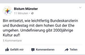 Postin im Namen des Bistums Münster