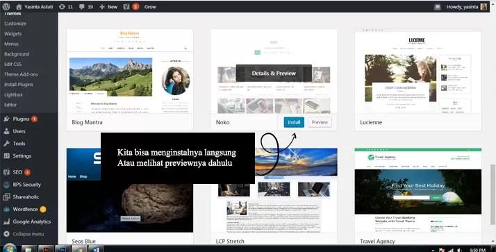 mengganti themes pada blog wordpress