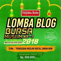 Lomba Blog Bursa Muslim Bekasi 2018