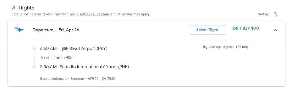 Info Penerbangan Ke Palangkaraya Plus Harga Tiket Dan Jadwal Lengkap