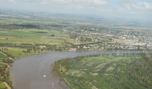Urban development, infrastructure and Industrialisation have changed the nature and hydrography of the Fitzroy River. Photo: A. Briggs