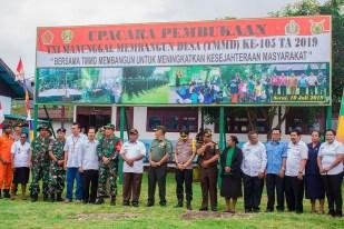 UPACARA PEMBUKAAN TNI MANUNGGAL MEMBANGUN DESA (TMMD) KE-105 TAHUN 2019