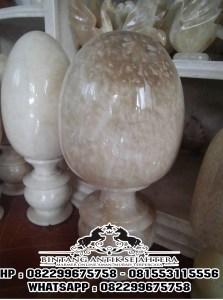 Kap Lampu Onyx | Kap Lampu Telur Berbahan Onyx