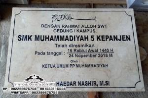Jual Batu Prasasti Peresmian, Contoh Prasasti Peresmian Masjid, Prasasti Peresmian Marmer Granit