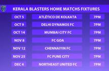 kerala blasters fc home matches fixtures