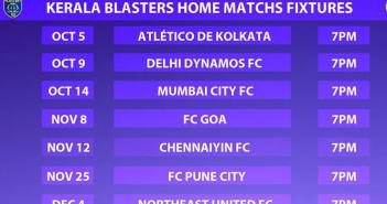 kerala blasters fc home matches fixtures