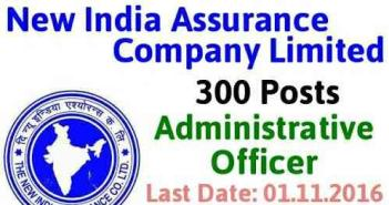New India Assurance Company Ltd recruitment 2016