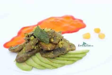 Koon fry/ Spicy sautéed mushrooms