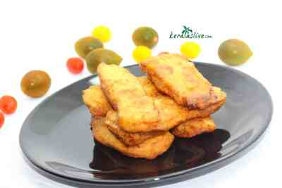 how to make Pazham pori / plantain fritters