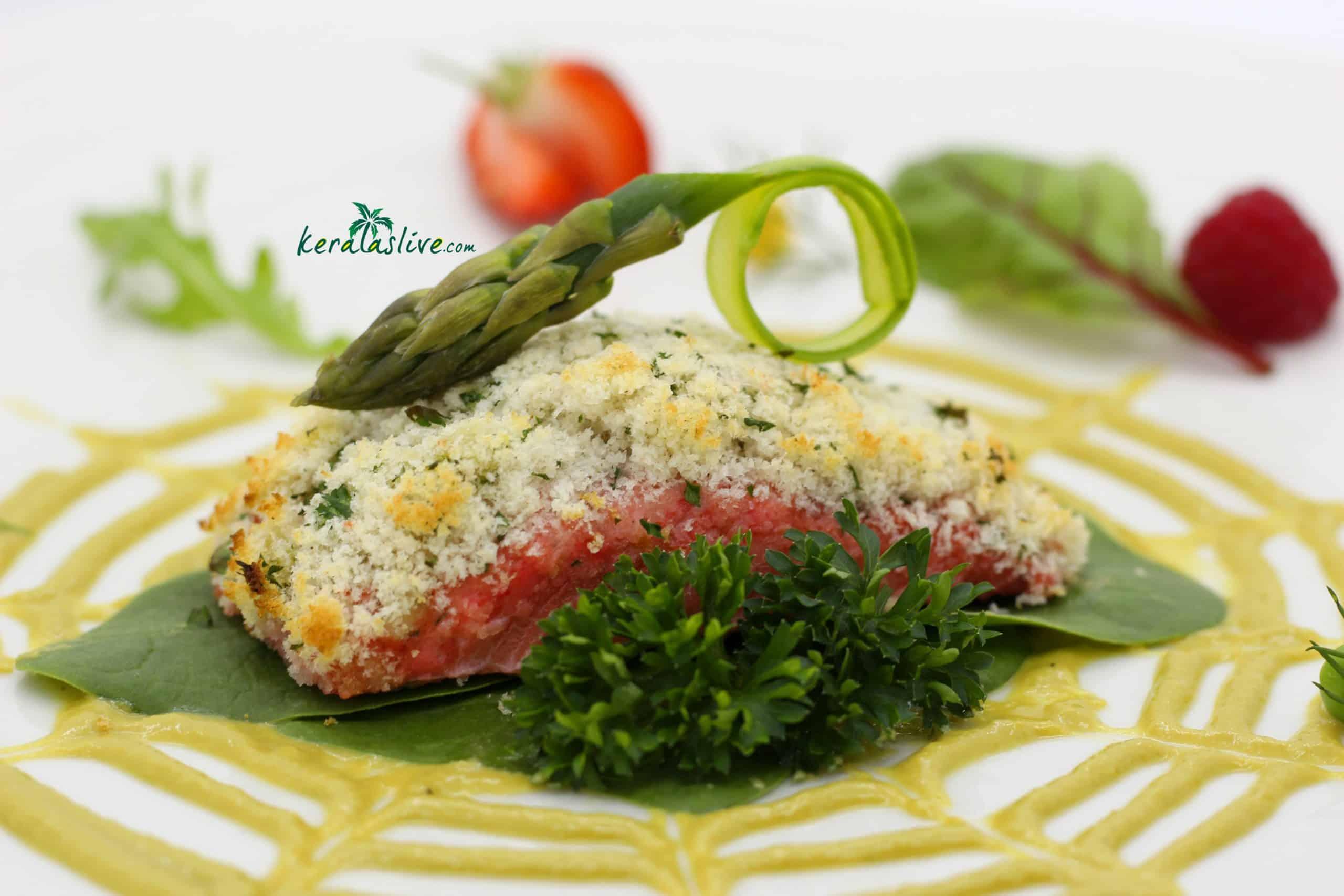 tandoori bread crusted Salmon