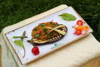 How to cook Baingan Bharta / Spiced eggplant