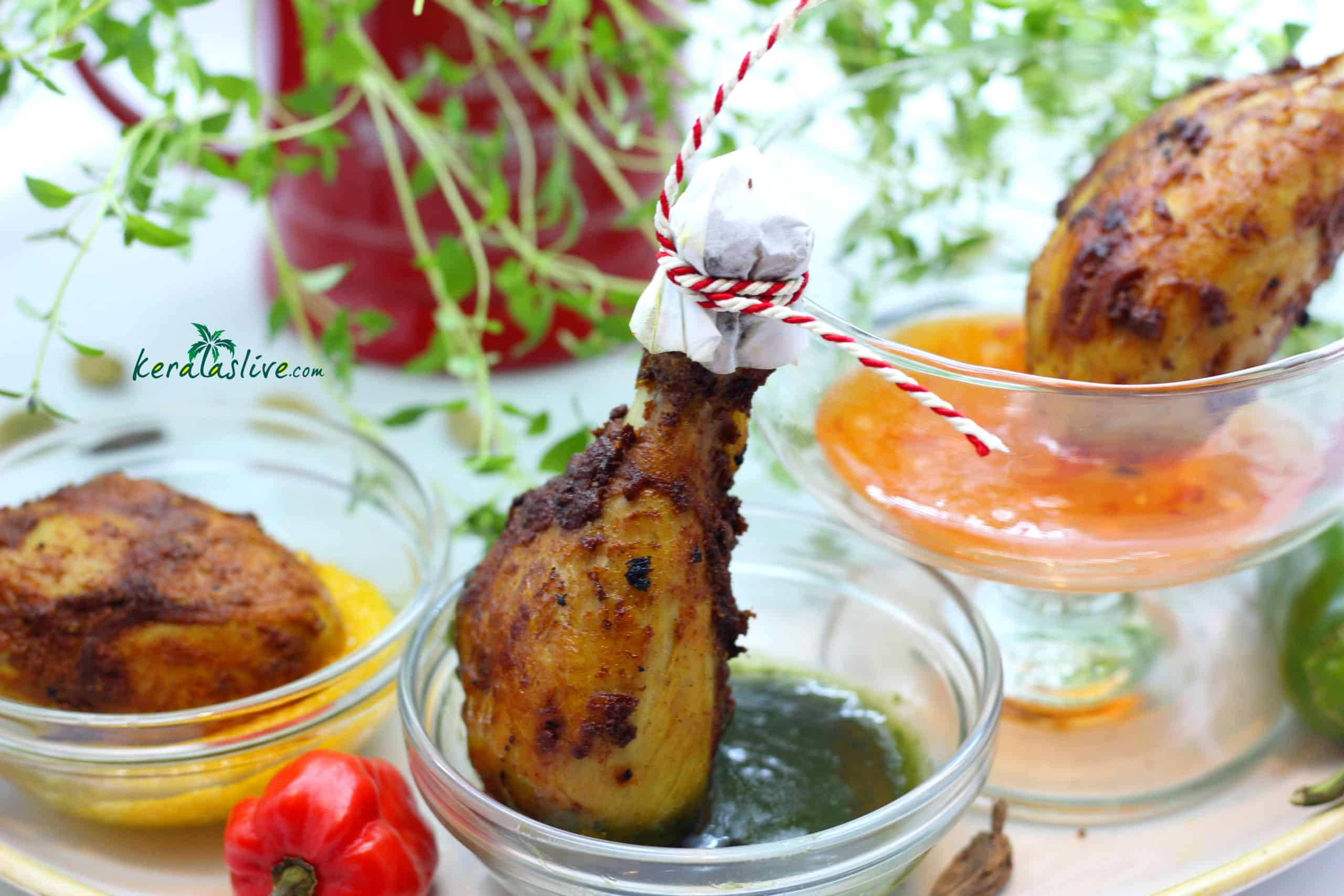 how to make Kerala spiced chicken drumsticks