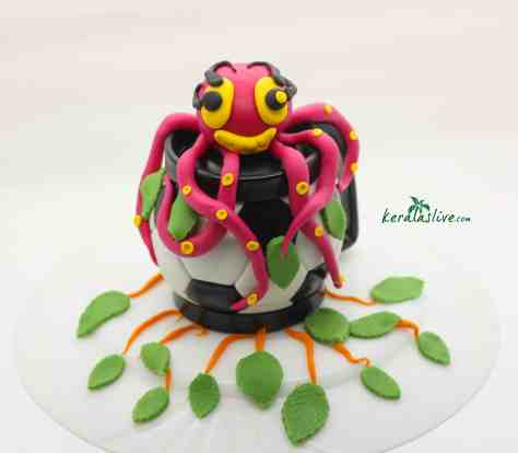 octopus with fondant