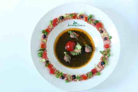 Tandoori chicken salad.