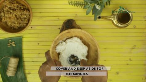 cover and soak for ten minutes