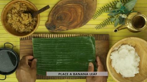 place a banana leaf