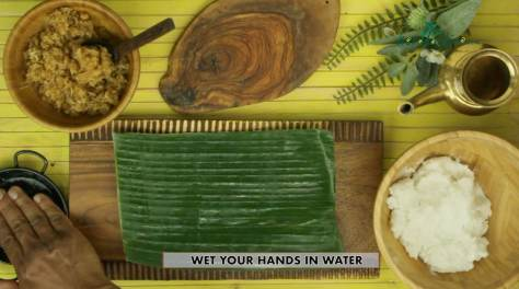 wet your hands with water