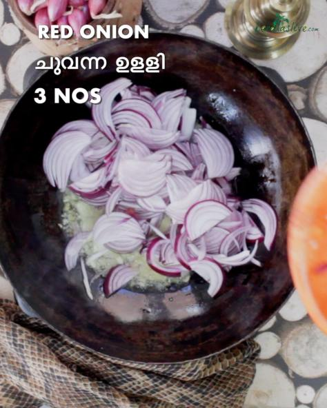 add three sliced Indian red onions