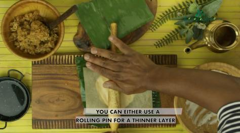 you can either use a rolling pin to flatten the dough