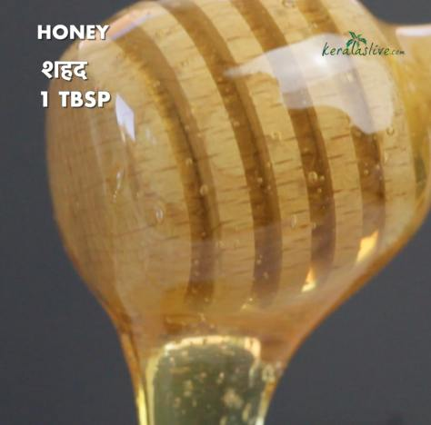 one tablespoon of honey into the sauce