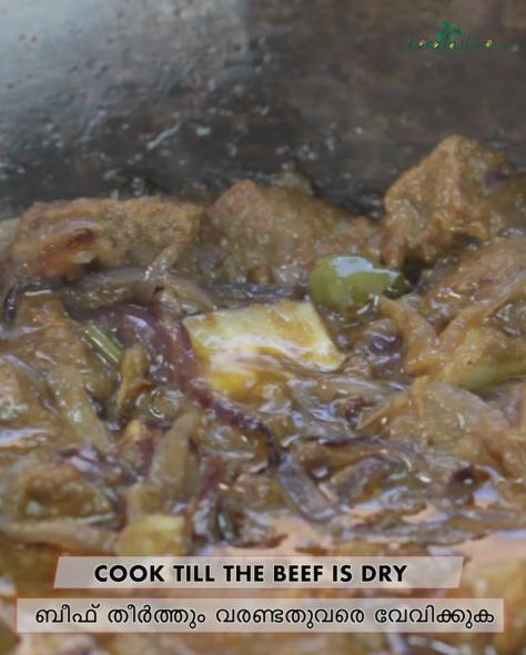 cook till the beef is dry