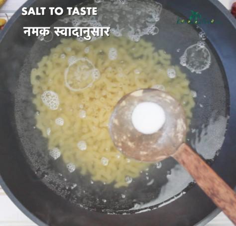 Add in salt to taste