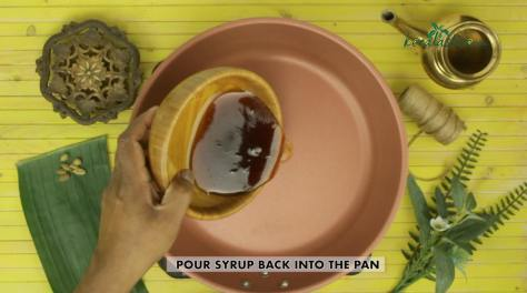 Pour the syrup back into the pan