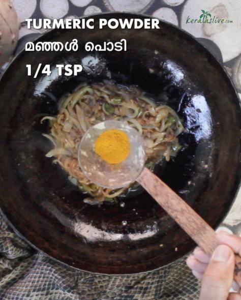 add quarter teaspoon of turmeric powder
