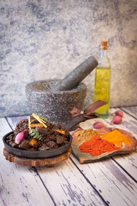 beef ularthiyathu with its spices