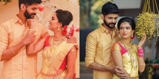 TikTok Stars Sheethal Elza And Vinu Vinesh Wedding Photos