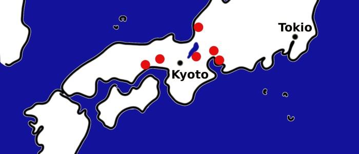 Japan Karte 6 historische Keramikorte