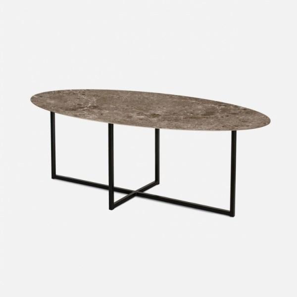 Keramische tafels Arctic Moka Marrone sofia ovaal