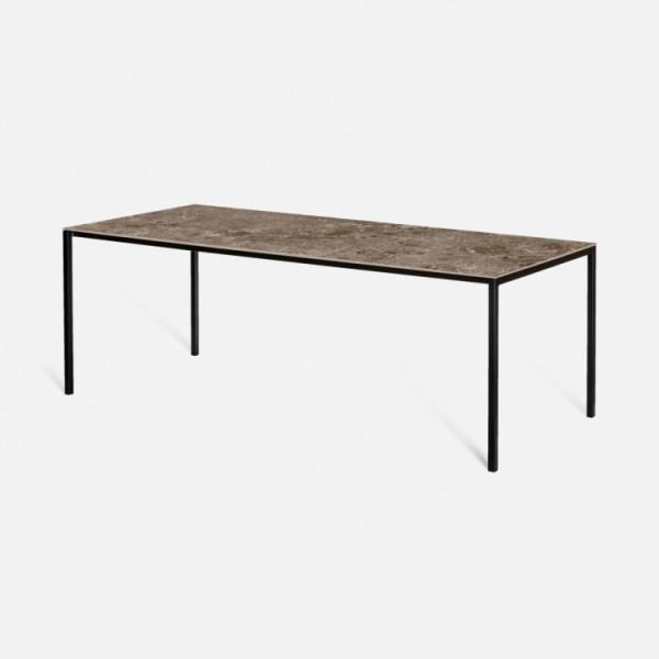 Keramische tafel arctic moka marronne isabella