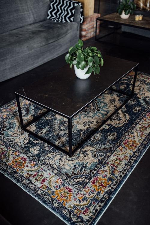 Keramische tafels Nero Opaco Angelina recht salontafel