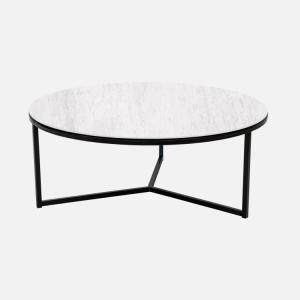 Keramische tafels Salontafel Rond Carrara Julia