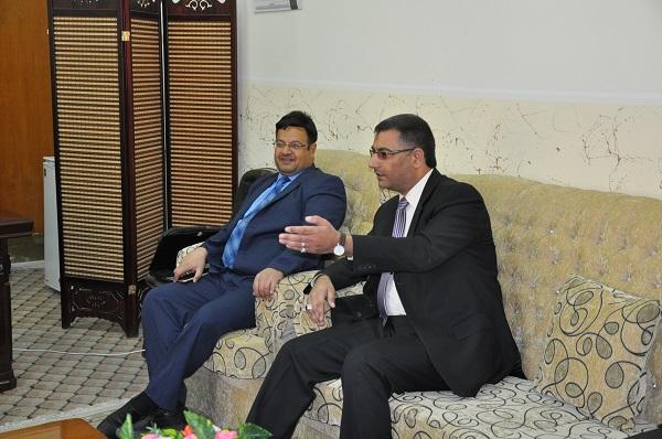 لقاء المركز مع وفد لجنة التعليم في مجلس المحافظة 1