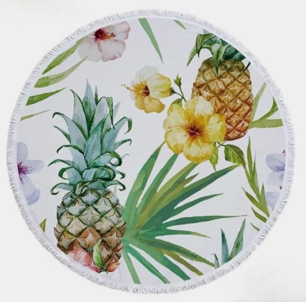 Ananászos kerek törölköző