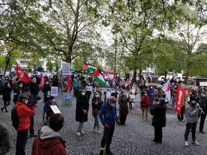 """Rede auf der Kundgebung """"Waffenruhe sofort! Schluss aller Aggressionen – für eine zivile Lösung für Israel und Palästina!"""""""