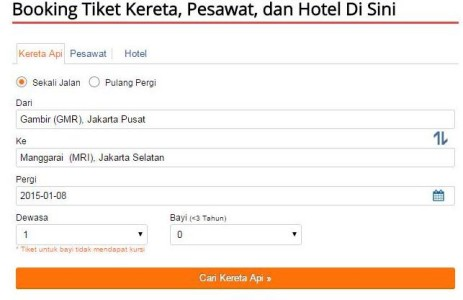 Reservasi booking tiket