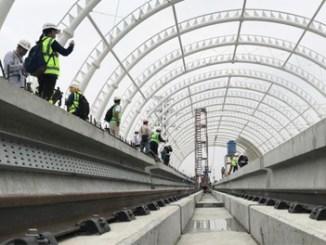 Pembangunan jembatan atau skybridge