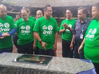 Jajaran Direksi PT KAI dan PT RMU saat launching green pack di Stasiun Bandung - jabar.sindonews.com