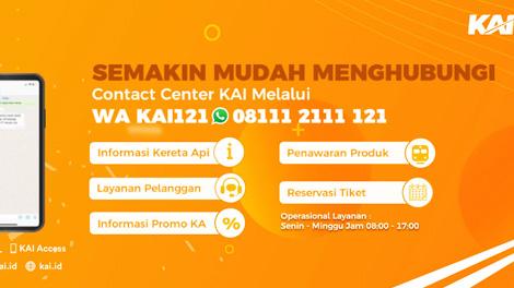 Layanan baru WhatsApp KAI121 - penumpang.kai.id